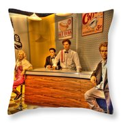 American Cinema Icons - 5 And Diner Throw Pillow
