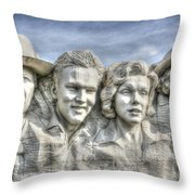 American Cinema Icons - America's Sweethearts Throw Pillow