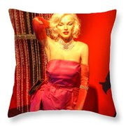 American Cinema Icons - Norma Jean Throw Pillow