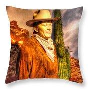 American Cinema Icons - The Duke Throw Pillow