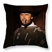 American Cinema Icons - The Man With No Name Throw Pillow