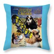 American Cocker Spaniel Art - Julius Caesar Movie Poster Throw Pillow