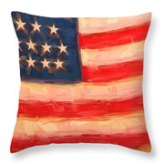 American Colours Throw Pillow