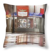 American Coney In Detroit At Night Throw Pillow
