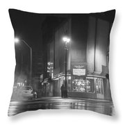 American Coney In Detroit Black And White Throw Pillow