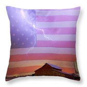 American Country Storm Throw Pillow