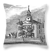 American Courthouse, 1844 Throw Pillow