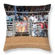 American Cowboy Bucking Rodeo Bronc Throw Pillow