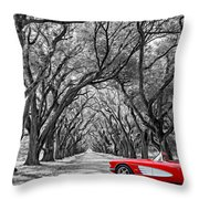 American Dream Drive Bw Throw Pillow
