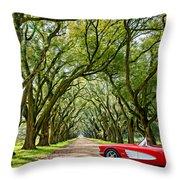 American Dream Drive Throw Pillow