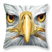 American Eagle - Bald Eagle By Betty Cummings Throw Pillow by Sharon Cummings