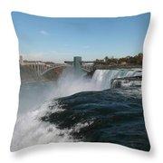 American Falls From Luna Island Throw Pillow