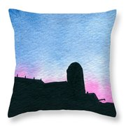 American Farm #2 Silhouette Throw Pillow