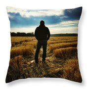 American Farmer Throw Pillow