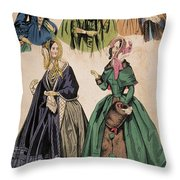 American Fashion Print Throw Pillow