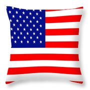 American Flag . Square Throw Pillow