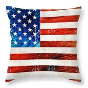 American Flag Art - Old Glory - By Sharon Cummings Throw Pillow
