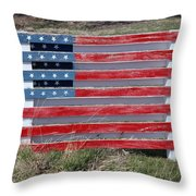 American Flag Country Style Throw Pillow