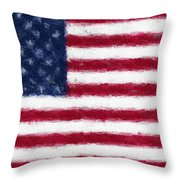 American Flag Embossed Throw Pillow