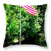 American Flag - Honoring John Throw Pillow by Tap On Photo
