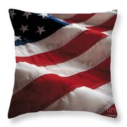 American Flag Throw Pillow by Jon Neidert