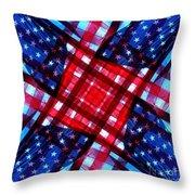 American Flag Kaleidoscope Throw Pillow