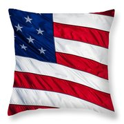 American Flag Throw Pillow by Leslie Banks