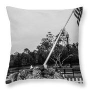 American Flag Monument Throw Pillow