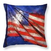 American Flag Photo Art 02 Throw Pillow