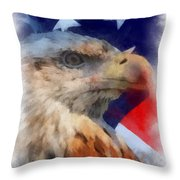 American Flag Photo Art 03 Throw Pillow