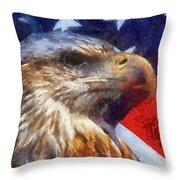 American Flag Photo Art 04 Throw Pillow