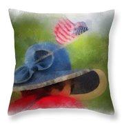 American Flag Photo Art 05 Throw Pillow