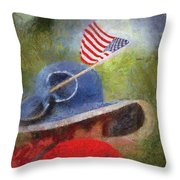 American Flag Photo Art 06 Throw Pillow