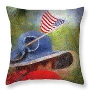 American Flag Photo Art 06 Throw Pillow