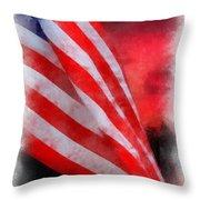 American Flag Photo Art 07 Throw Pillow