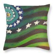 American Flag Reprise Throw Pillow