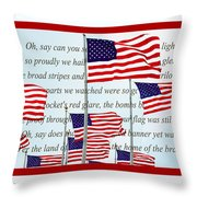 American Flag Tribute  Throw Pillow