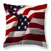 American Flags   #5147 Throw Pillow