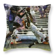 American Football 3 Of 3 Throw Pillow