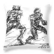 American Football 3 Throw Pillow
