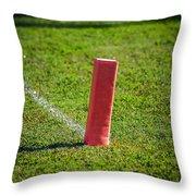 American Football Field Marker Throw Pillow