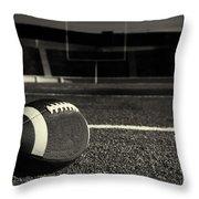 American Football On Field Throw Pillow