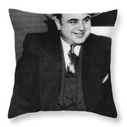 American Gangster Al Capone Throw Pillow