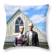 American Gothic  Throw Pillow