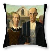 American Gothic Duvet Throw Pillow