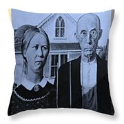 American Gothic In Colors Throw Pillow