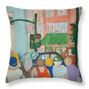 American Graffiti Modesto Cruising Throw Pillow