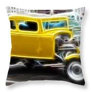 American Grafitti Coupe Throw Pillow