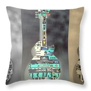American Guitars 5 Throw Pillow