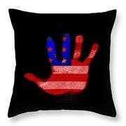 American Hand Throw Pillow